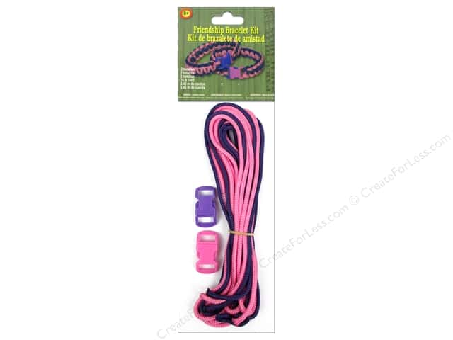 Pepperell Parachute Cord Accessories Friendship Bracelet Kit Pink/Purple