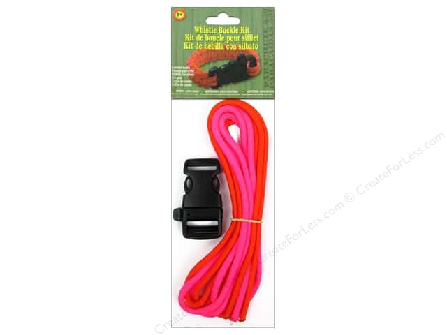 Pepperell Parachute Cord Accessories Whistle Buckle Kit Pink/Orange