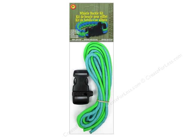 Pepperell Parachute Cord Accessories Whistle Buckle Kit Blue/Green