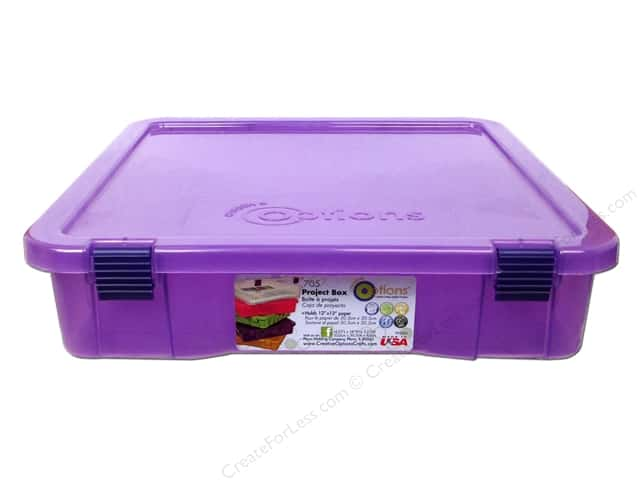 Creative Options Organizer Project Box Purple