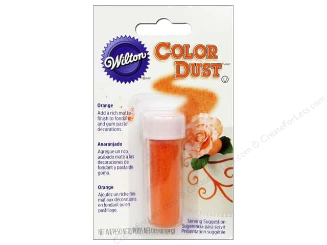Wilton Edible Decorations Color Dust .05oz Orange
