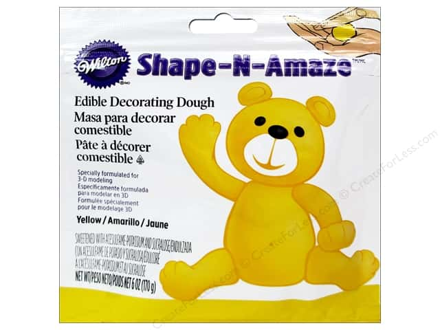 Wilton Edible Decorations Shape N Amaze Decorating Dough 6oz Yellow