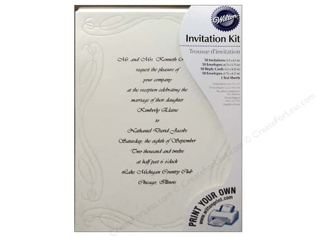 Wilton Accessories Invitation Kit Love Begins Ivory 50pc