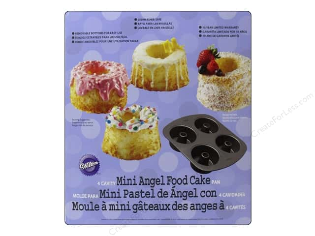 Wilton Bakeware Pan Mini Angel Food 4 Cavity Non Stick