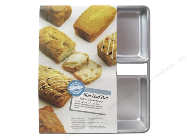 "Wilton Bakeware Pan Loaf Mini 6 Cavity 4.5""x 2.5""x 1.5"" Aluminum"