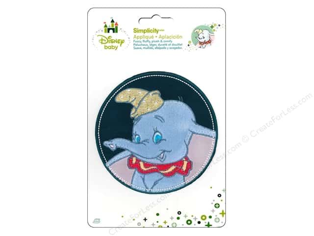 Simplicity Disney Baby Iron On Dumbo In Stitched Circle