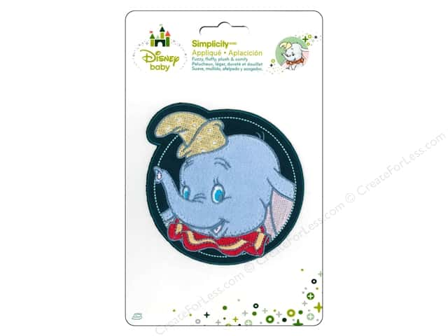 Simplicity Disney Baby Iron On Dumbo In Circle