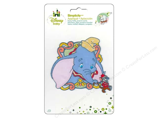 Simplicity Disney Baby Iron On Dumbo Circus Monkey