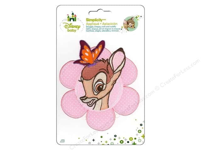 Simplicity Disney Baby Iron On Bambi With Butterfly