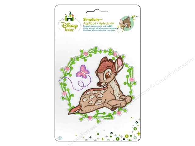 Simplicity Disney Baby Iron On Bambi With Flower
