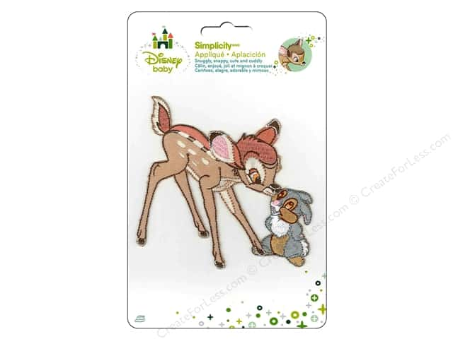 Simplicity Disney Baby Iron On Bambi And Thumper
