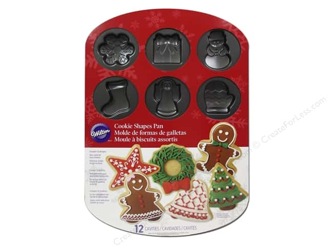 Wilton Bakeware Pan Cookie Holiday 12 Cavity Non Stick