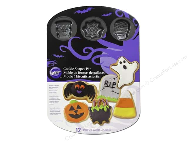 Wilton Bakeware Pan Cookie Halloween 12 Cavity Non Stick