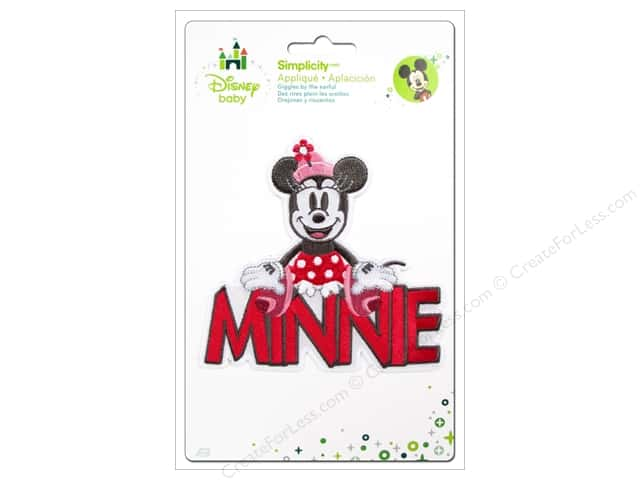 Simplicity Disney Baby Iron On Minnie With Words