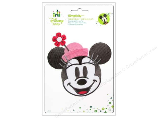Simplicity Disney Baby Iron On Minnie Head With Flowers