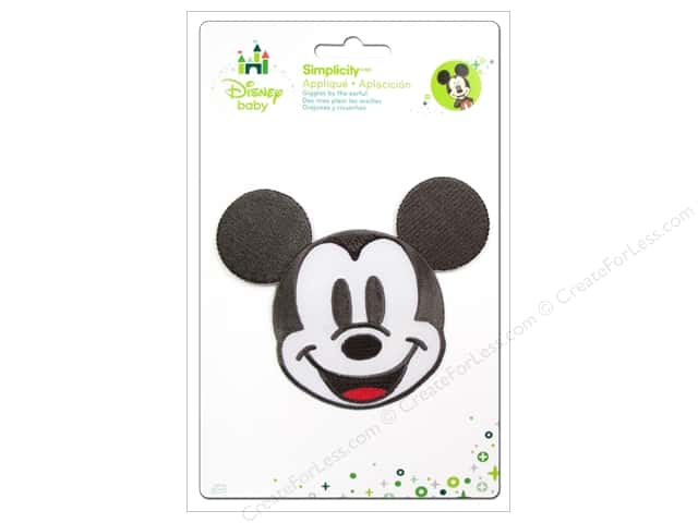 Simplicity Disney Baby Iron On Mickey Head