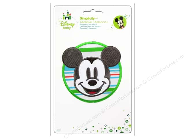 Simplicity Disney Baby Iron On Mickey With Stripes
