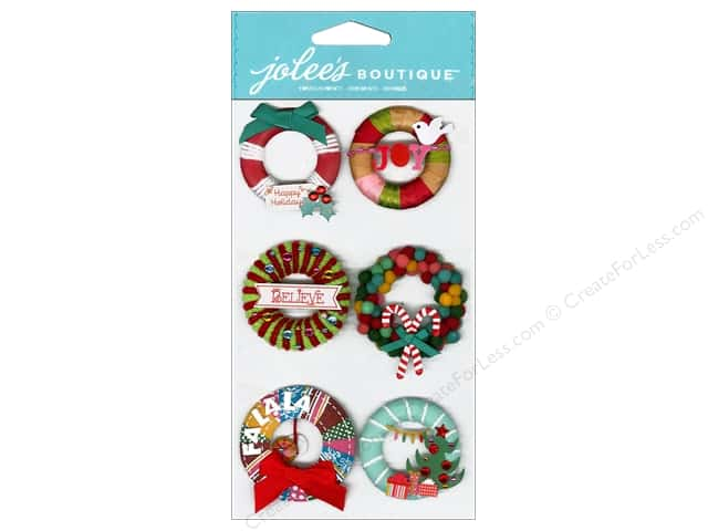 Jolee's Boutique Stickers Holiday Wreaths