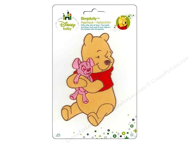 Simplicity Disney Baby Iron On Pooh Hugging Bear