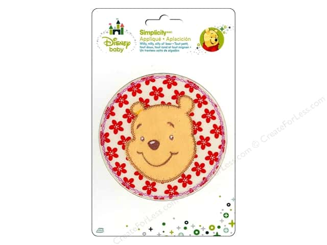 Simplicity Disney Baby Iron On Pooh In Flower Circle