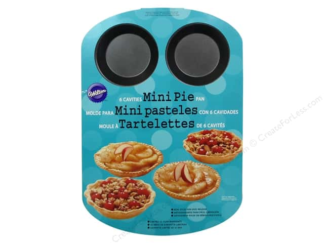 Wilton Bakeware Pan Mini Pie 6 Cavity Non Stick