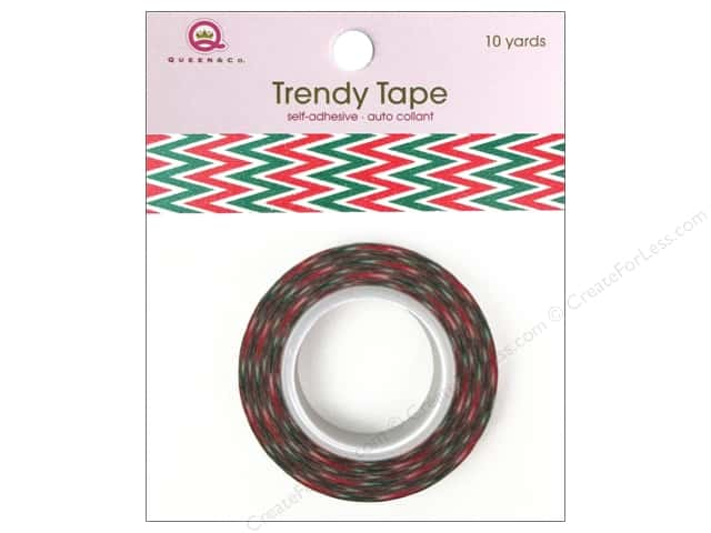 Queen&Co Trendy Tape 10yd Holiday Chevron