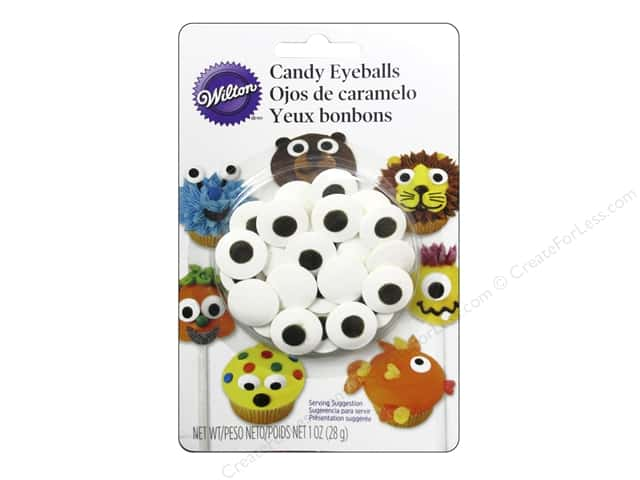 Wilton Edible Decorations Icing Decorations Candy Eyeballs Large White