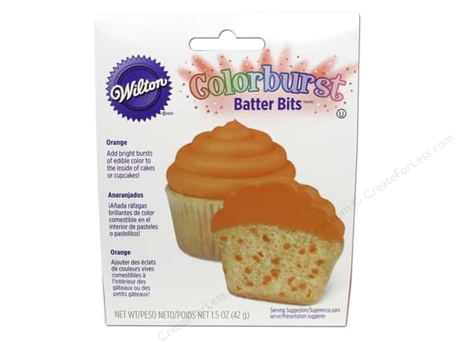 Wilton Edible Decorations Batter Bits Colorburst Orange 1.5oz