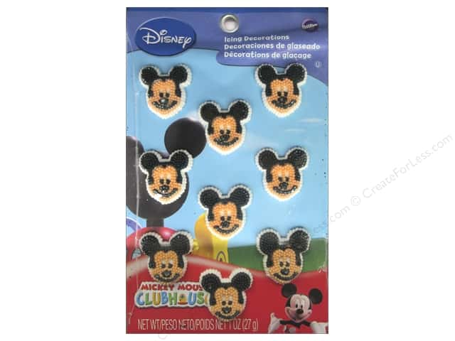 Wilton Edible Decorations Icing Mickey Mouse 9pc