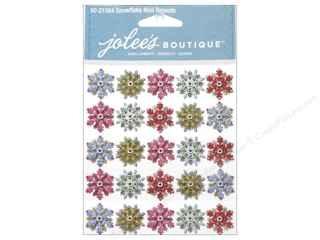 Jolee's Boutique Stickers Snowflake Mini Repeats