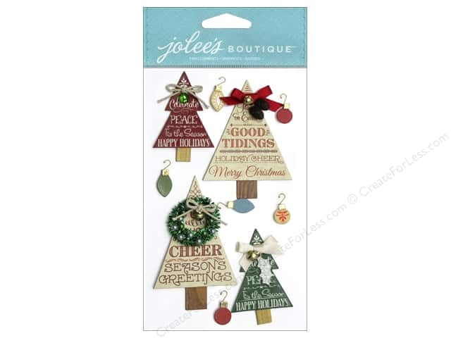 Jolee's Boutique Stickers Holiday Word Trees