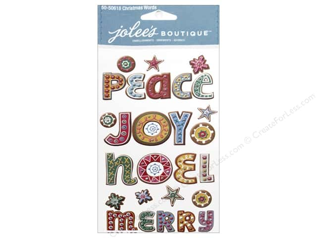 Jolee's Boutique Stickers Christmas Words