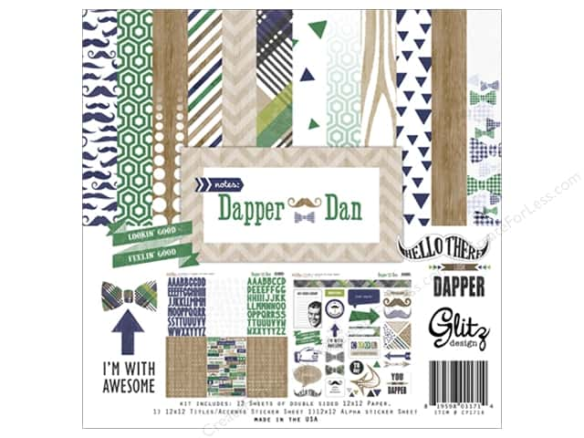 "Glitz Design Collection Kit Dapper Dan 12""x 12"""