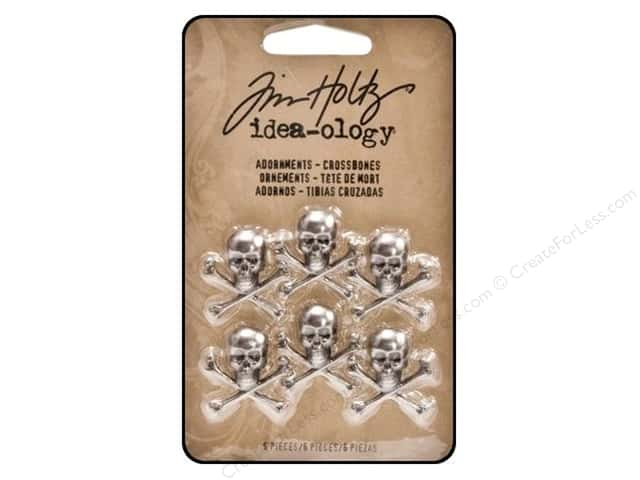 Tim Holtz Idea-ology Adornments Crossbones
