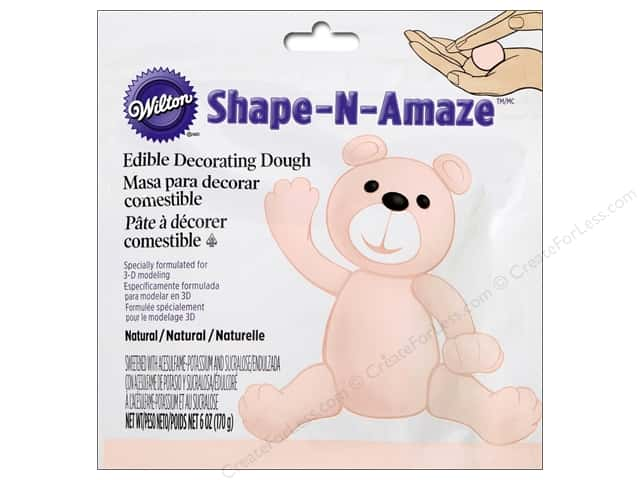 Wilton Edible Decorations Shape N Amaze Decorating Dough 6oz Beige