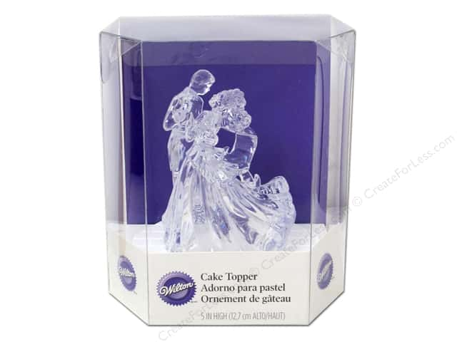 Wilton Decorations Cake Topper Acrylic Clear Bianca