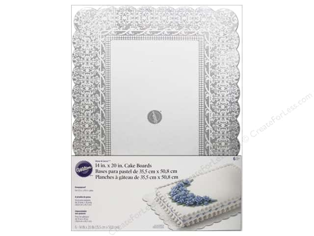 "Wilton Decorations Cake Board Show N Serve 14""x 20"" Rectangle 6pc"