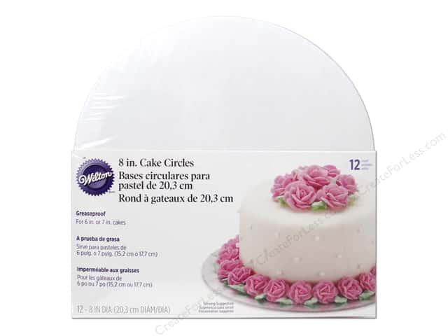 "Wilton Decorations Cake Circle 8"" 12pc"