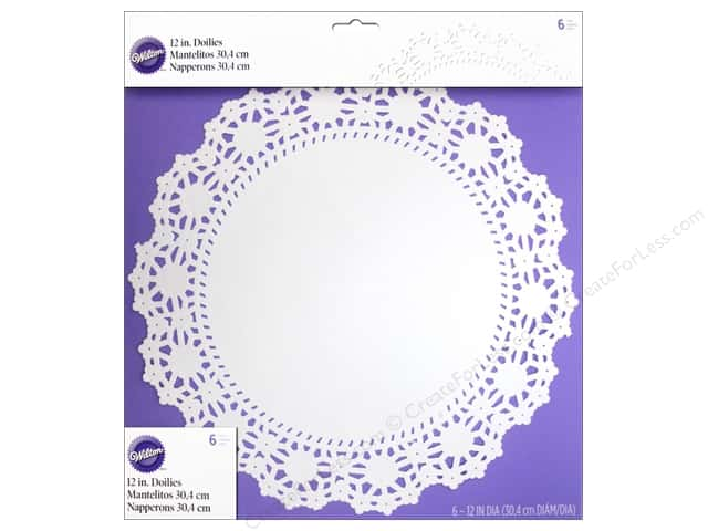 "Wilton Decorations Doilies 12"" Greaseproof White 6pc"