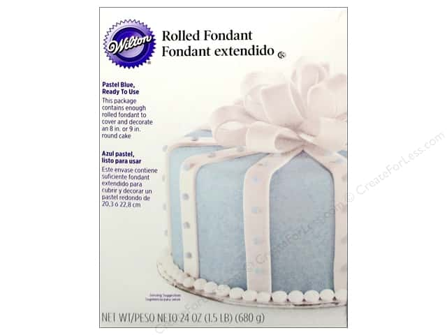 Wilton Edible Decorations Fondant Rolled 24oz Pastel Blue