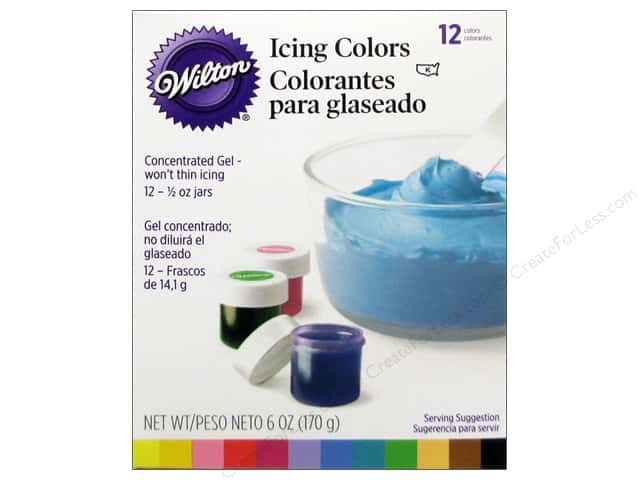 Wilton Decorating Color Icing Kit .5oz 12pc