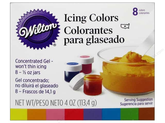 Wilton Decorating Color Icing Kit .5oz 8pc