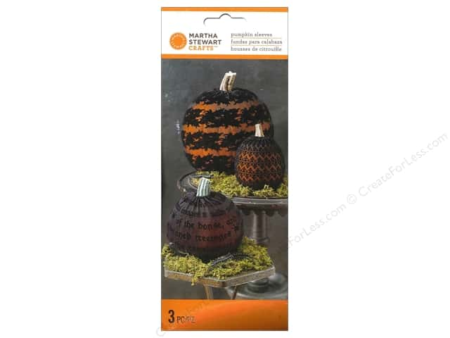 Martha Stewart Food Packaging Pumpkin Sleeves Gothic 3pc