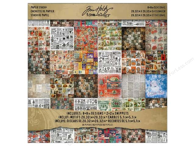 "Tim Holtz Idea-ology Paper Stash 8""x 8"" Seasonal"