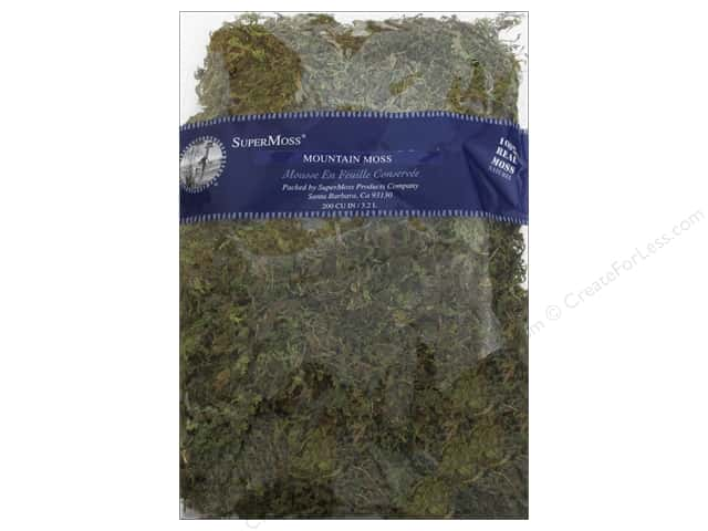 SuperMoss Mountain Moss 200cu Package Natural/Green