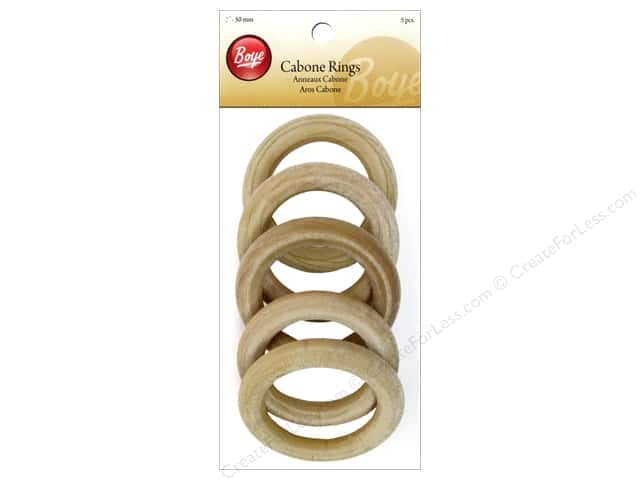 Boye Cabone Rings 2 in. Wood 5 pc.