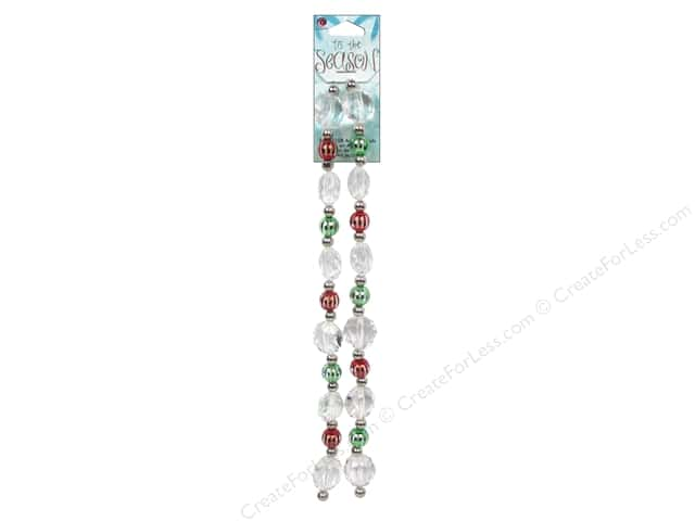 Cousin Bead Tis The Season Strand Acrylic Red/Green/Clear 46pc