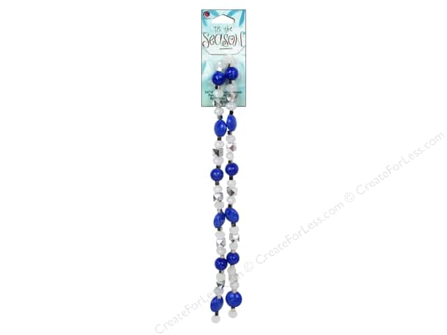 Cousin Bead Tis The Season Strand Acrylic Blue/Silver 70pc