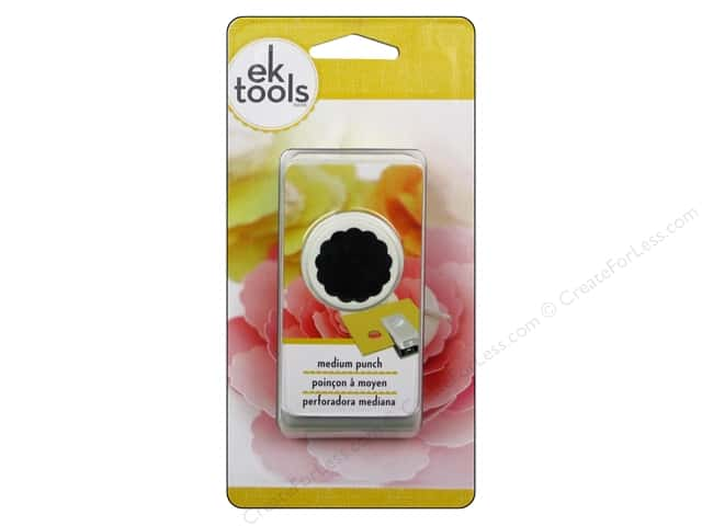 EK Paper Shapers Medium Punch 1 in. Scallop Circle