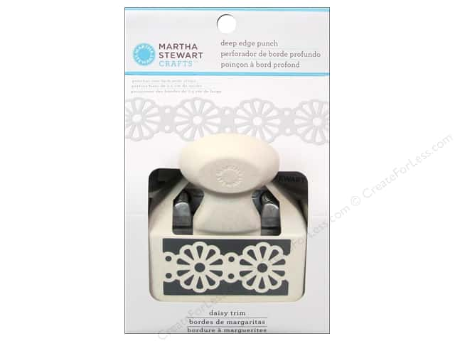 Martha Stewart Deep Double Edger Punch Daisy Trim